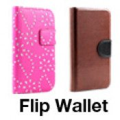 Flip Leather Wallet Case