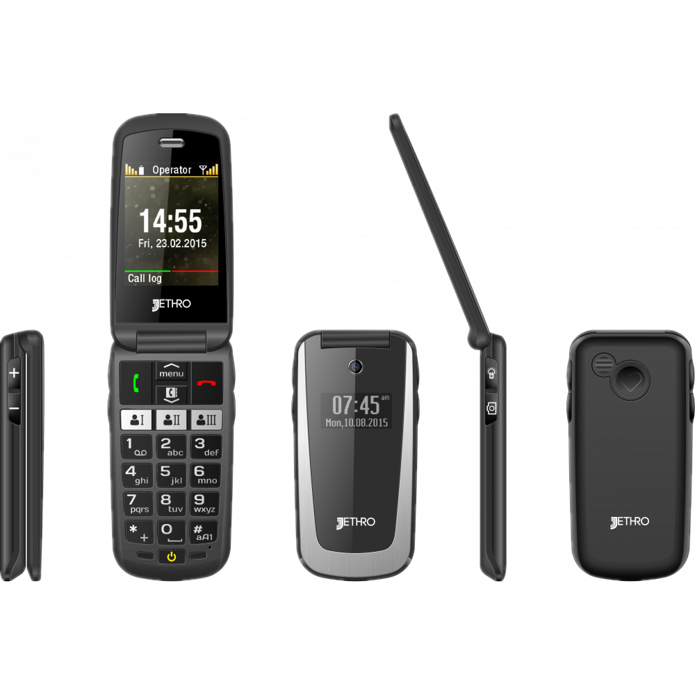 Wholesale Jethro [SC729] 3G Unlock Flip Senior Cell Phone
