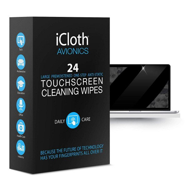 Wholesale Isopropyl Alcohol Wipes - Kill Virus - iCloth Large Screen Cleaning Wipes - Made In USA (10 Box Per Case) (Total 240pc)