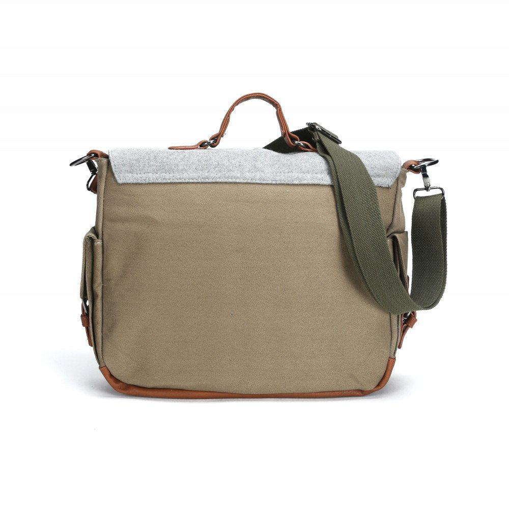 wholesale tri color canvas messenger bag