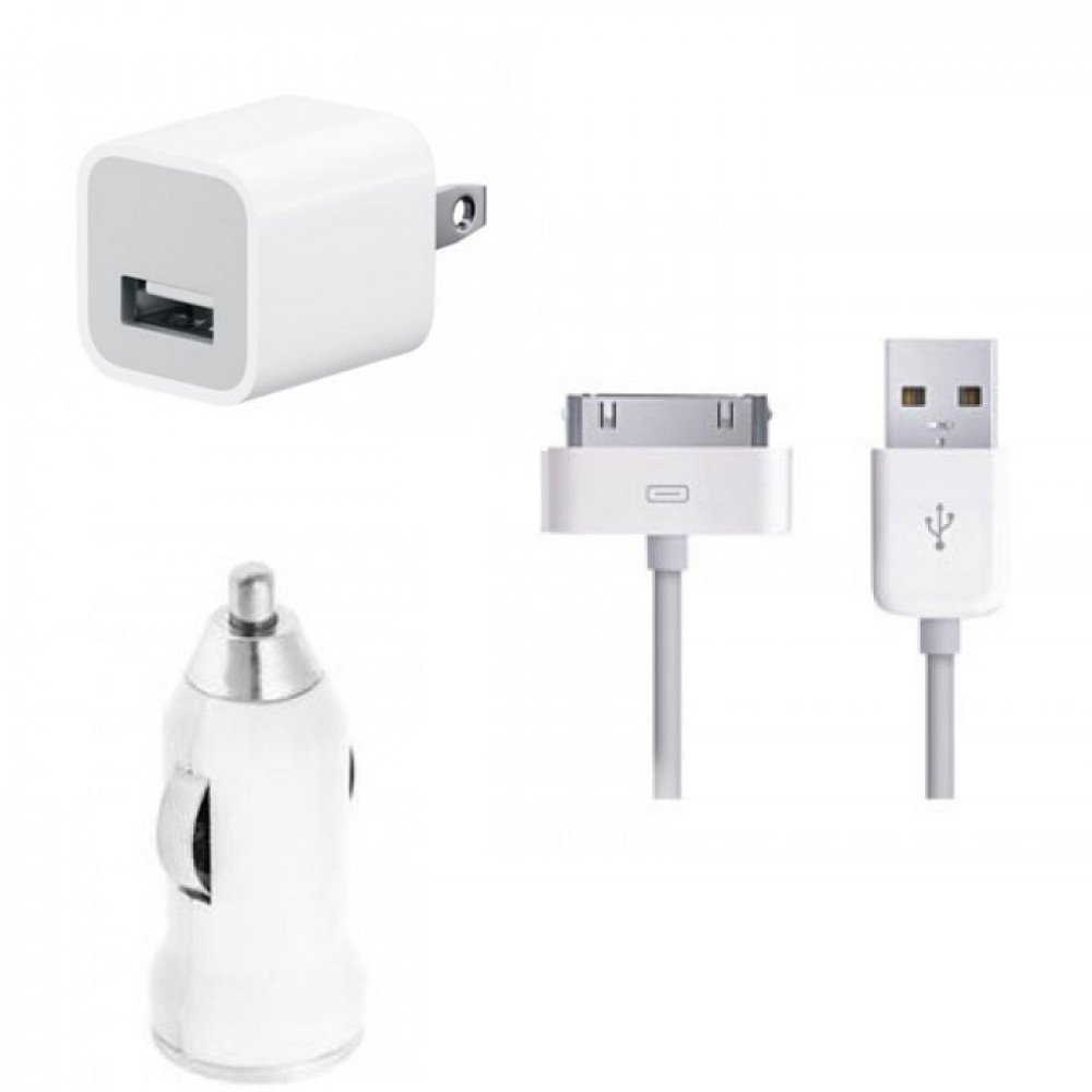 wholesale iphone chargers iphone 4s 4 3 in 1 house amp car charger white 8313
