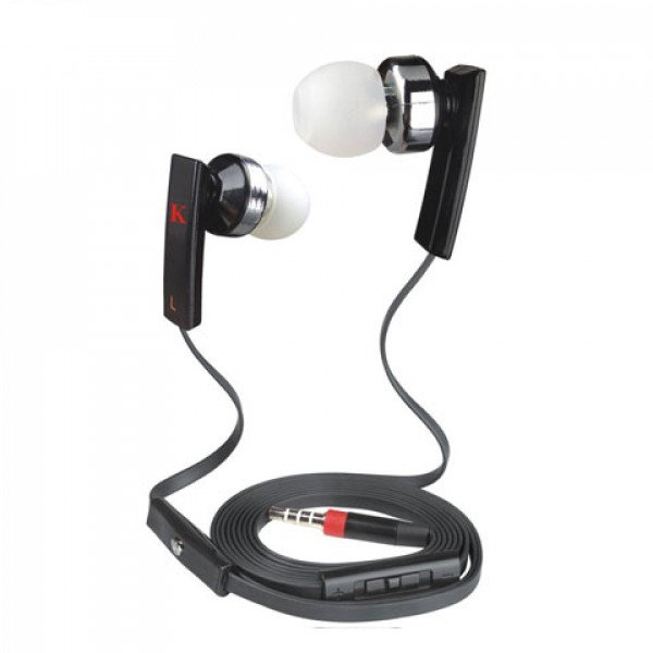 Wholesale KIK 888 Stereo Earphone Headset with Mic and Volume Control (888 Black)