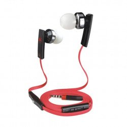 KIK 888 Stereo Earphone Headset with Mic and Volume Control (888 Red)