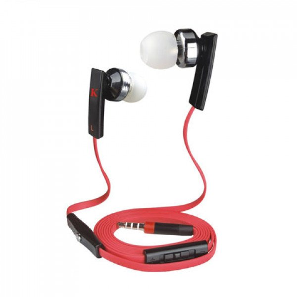 Wholesale KIK 888 Stereo Earphone Headset with Mic and Volume Control (888 Red)