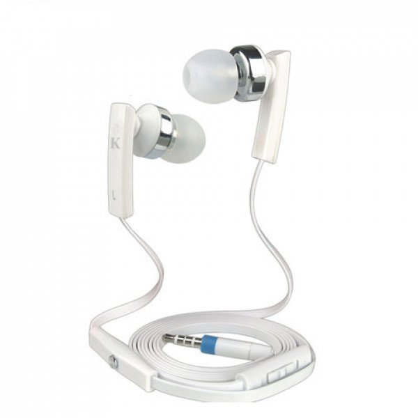 Wholesale KIK 888 Stereo Earphone Headset with Mic and Volume Control (888 White)