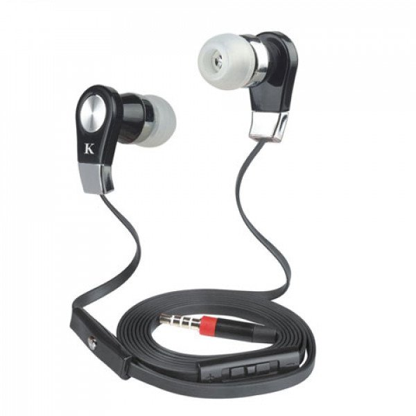 Wholesale KIK 999 Stereo Earphone Headset with Mic and Volume Control (999 Black)