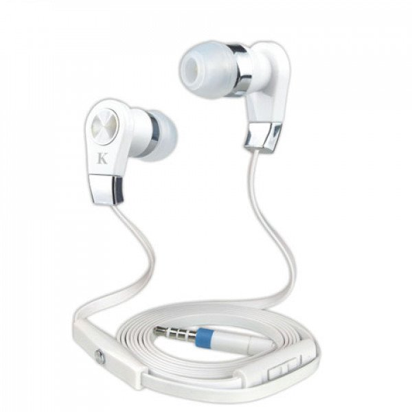 Wholesale KIK 999 Stereo Earphone Headset with Mic and Volume Control (999 White)