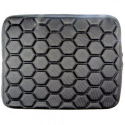 "Bubble Design iPad Tablet Sleeve Pouch Bag with Zipper 10"" (Black)"