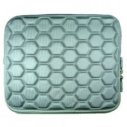 "Bubble Design iPad Tablet Sleeve Pouch Bag with Zipper 10"" (Gray)"
