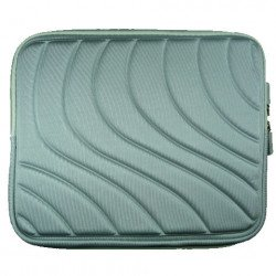 "Wave Design iPad Tablet Sleeve Pouch Bag with Zipper 10"" (Gray)"