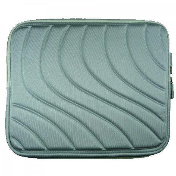 "Wholesale Wave Design iPad Tablet Sleeve Pouch Bag with Zipper 10"" (Gray)"