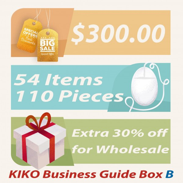 Wholesale KIKO Business Guide BOX (Total 54 items 110 pc)
