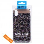 Wholesale iPhone 8 / 7 Sparkling Glitter Chrome Fancy Case with Metal Plate (Rainbow Purple)