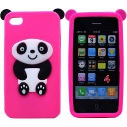 iPhone 4 4S 3D Cute Panda Case (Pink)