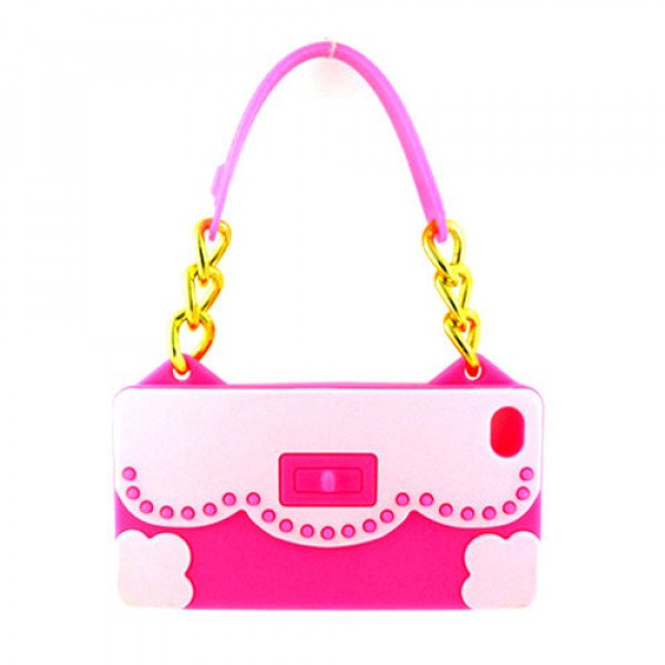 Wholesale iPhone 4S 4 Flower Handbag (Pink - Hot Pink)
