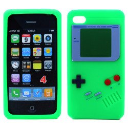 iPhone 4 4S 3D Gameboy Case (Green)
