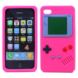 iPhone 4 4S 3D Gameboy Case (Hot Pink)