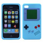 Wholesale iPhone 4 4S 3D Gameboy Case (Turquoise)