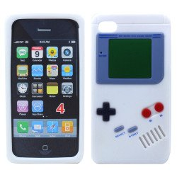iPhone 4 4S 3D Gameboy Case (White)