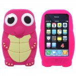 Wholesale iPhone 4S 4 3D Turtle Case (Pink)