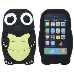 iPhone 4S/4 3D Turtle Case (Black)