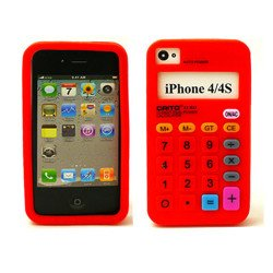 iPhone 4 4S 3D Calculator Case  (Red)