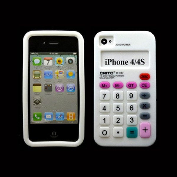 Wholesale iPhone 4 4S 3D Calculator Case (White)