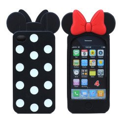 iPhone 4S/4 3D Ribbon Bow Case (Black)