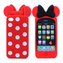 iPhone 4S/4 3D Ribbon Bow Case (Red)