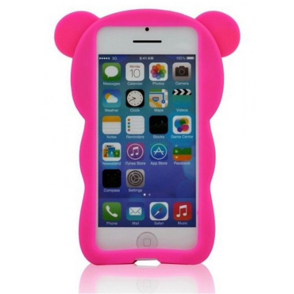 Iphone 5s Cases Hot Pink Iphone 5 5s 3d Bear Case Hot