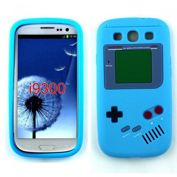 Wholesale Samsung Galaxy S3 / i9300 3D Gameboy Case (Sky Blue)