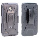 Wholesale Alcatel One Touch Conquest 7046T Holster Combo Belt Clip Case (Black)