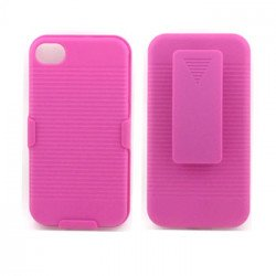 Holster Combo Case for iPhone 4S / 4 (Pink)
