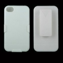 Holster Combo Case for iPhone 4S / 4 (White)