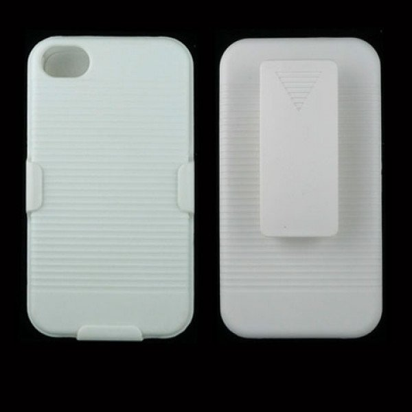 Wholesale Holster Combo Case for iPhone 4S / 4 (White)