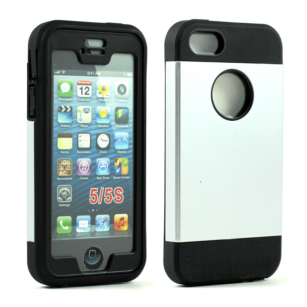 iphone 5s cheap cases iphone 5 5s slim defender with screen silver 9864