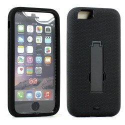 Apple iPhone 6 4.7 Armor Hybrid Case w Screen and Stand (Black Black)
