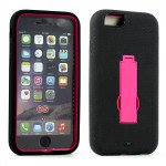 Wholesale Apple iPhone 6 4.7 Armor Hybrid Case w Screen and Stand (Hot Pink)