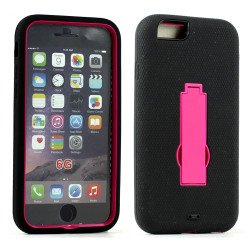 Apple iPhone 6 4.7 Armor Hybrid Case w Screen and Stand (Hot Pink)