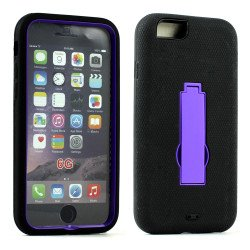 Apple iPhone 6 4.7 Armor Hybrid Case w Screen and Stand (Purple Black)