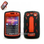 Wholesale Armor Hybrid Case for BlackBerry 9350 (RedBlack)