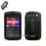Wholesale Armor Hybrid Case for BlackBerry 9350 (BlackBlack)