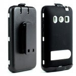 Wholesale HTC Evo 4G Armor Defender Case with Holster Clip (Black - White)