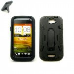 Wholesale Armor Hybrid Case for HTC ONE S (Black)