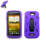 Wholesale Armor Hybrid Case for HTC ONE S (Purple)
