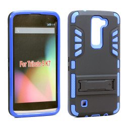 LG Tribute 5 K7 Hard Shield Hybrid Case (Blue)