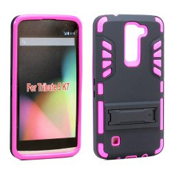 LG Tribute 5 K7 Hard Shield Hybrid Case (Hot Pink)