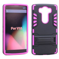 LG V10 Hard Shield Hybrid Case (Hot Pink)