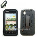 Wholesale LG Marquee LS855 Armor Hybrid Case with Stand (BlackBlack)