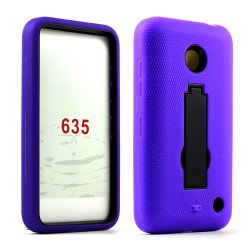Nokia Lumia 635 Armor Hybrid Stand Case (Purple Black)